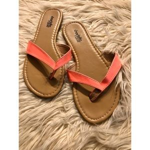 Charlotte Russe leather flip flop